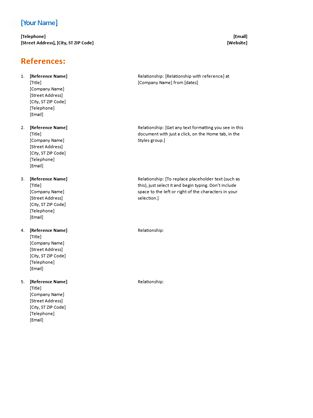references in resume examples 18 reference sampleresume sample - references template for resume