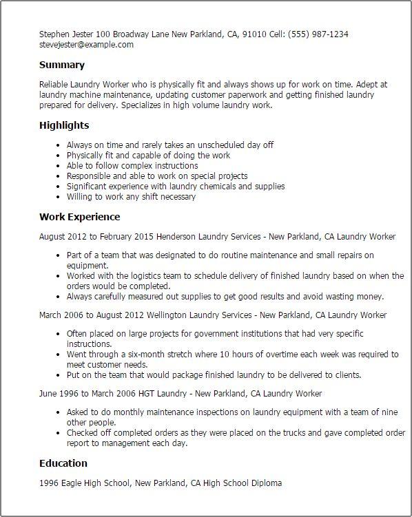 linen attendant sample resume room or laundry or house attendant - Linen Attendant Sample Resume