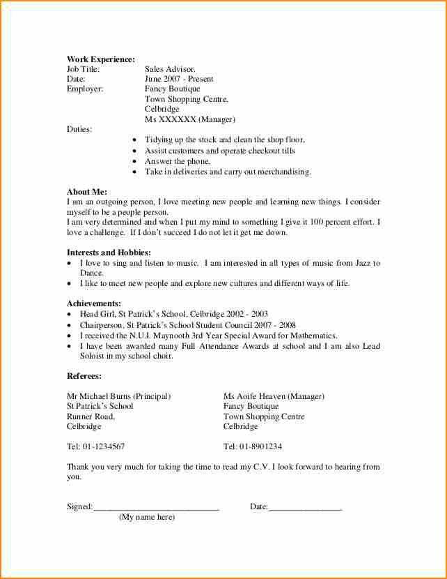Basic Resume Template For First Job Job Resume Template Free Free - resume for first job examples