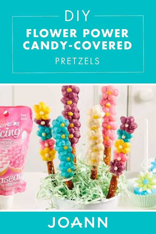 Here's a fun and cute spring treat that everyone will love! Check out these beautiful Flower Power Candy-Covered Pretzels from JOANN that taste even more amazing than they look.