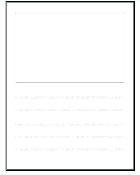 kindergarten writing paper printable