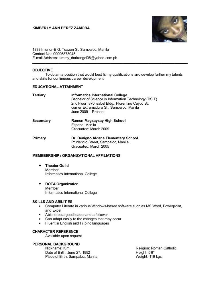 Educational Attainment Example In Resume Examples of Resumes