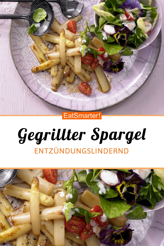 Gegrillter Spargel - mit buntem Kräutersalat - smarter - Kalorien: 150 kcal - Zeit: 30 Min. | eatsmarter.de #feierabendrezepte #spargel #schnell #entzündungslindernd