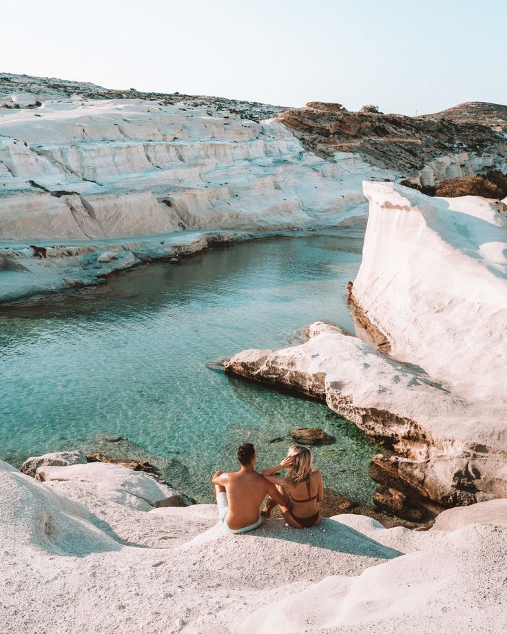 Sarakiniko beach in Milos, Greek Islands via @finduslost