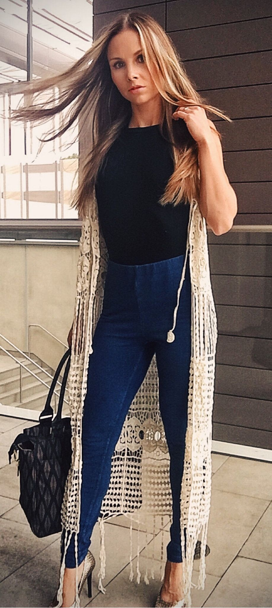black sleeveless blouse #summer #outfits