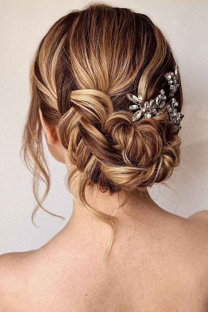 30 Wedding Hairstyles Ideas For Brides With Thin Hair ❤ wedding hairstyles for thin hair low updo with braids and loose curls bridal_hairstylist #weddingforward #wedding #bride #weddinghairstylesforthinhair