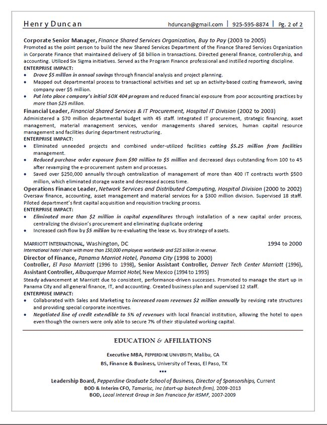 Executive Director Resume Sample Click Here To Download This - director of finance resume