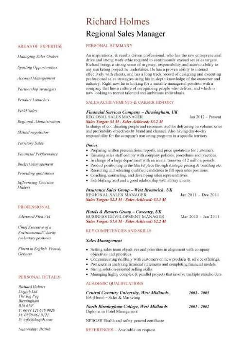engineering sales manager resume
