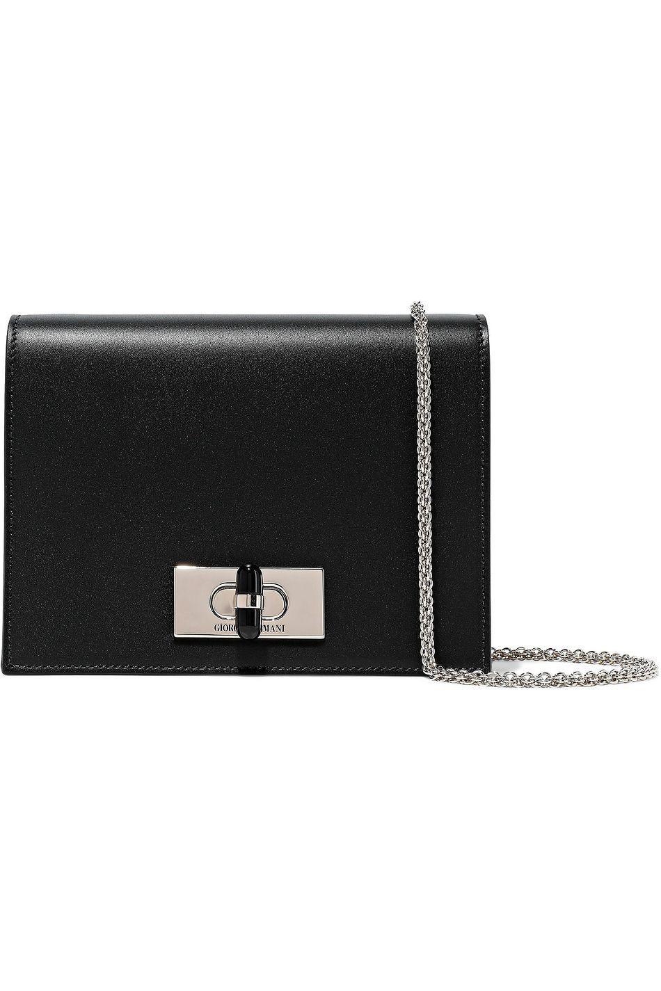Black Calliope mini leather shoulder bag | Sale up to 70% off | THE OUTNET | GIORGIO ARMANI | THE OUTNET