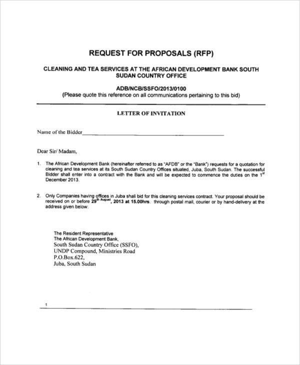 Bid proposal letter node2004 resume templateasprovider bid proposal letter spiritdancerdesigns Images