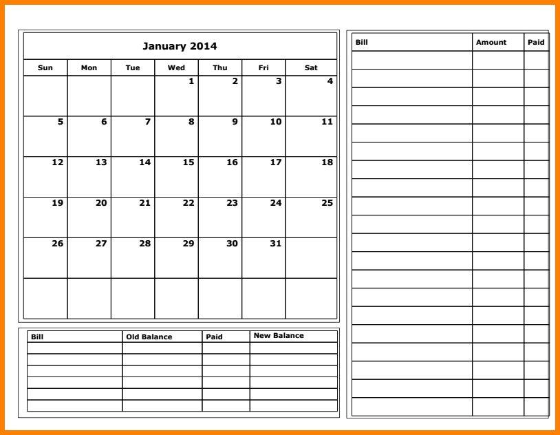 Budget Calendar Template free monthly budget template monthly - attendance calendar template