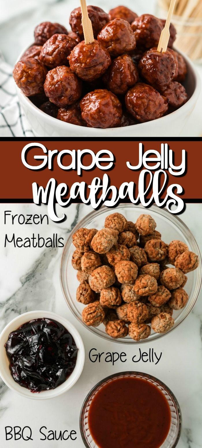 Crockpot Grape Jelly Meatballs