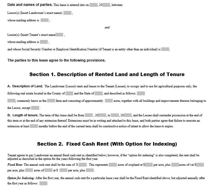 Sample Land Lease Agreement 7+ lease form samples - free sample - free sample lease agreement