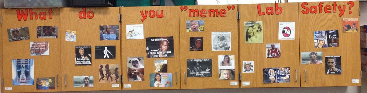 Meme for lab safety Classroom life, Student created, Lab