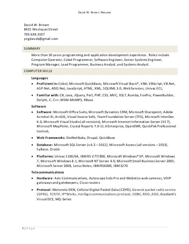 visual basic programmer sample resume node2002-cvresume