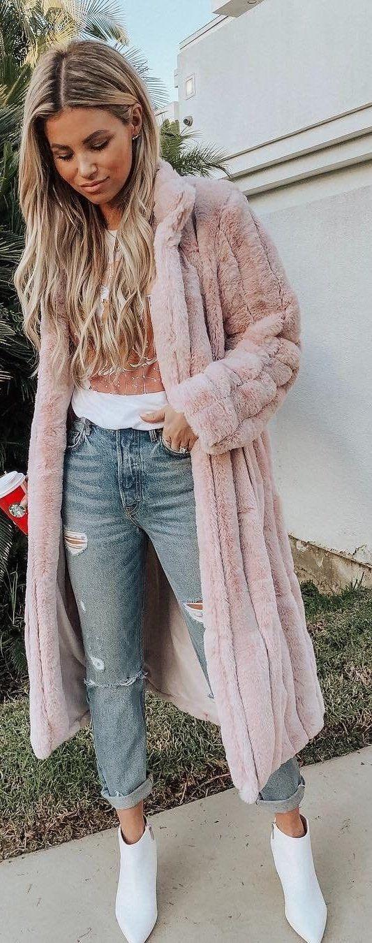 pink long cardigan