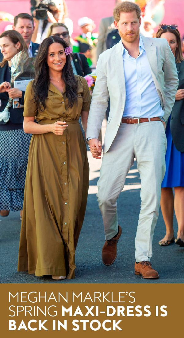 Meghan Markle's Sustainable Maxi Dress Just Came Back in Stock Right Under Our Noses