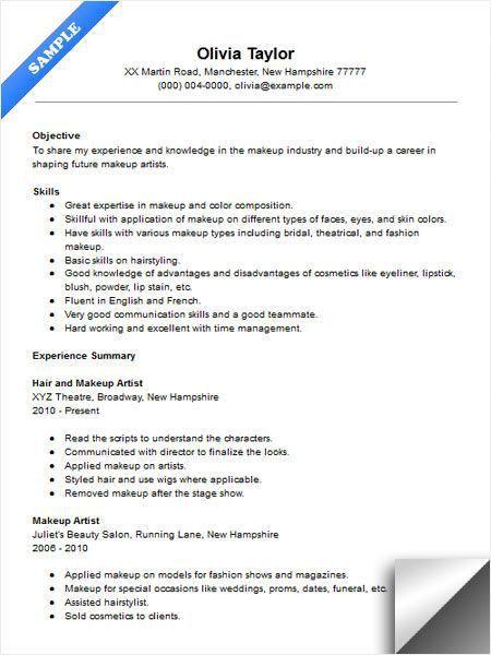 Artist Resume Examples Artist Resume Sample Writing Guide Resume