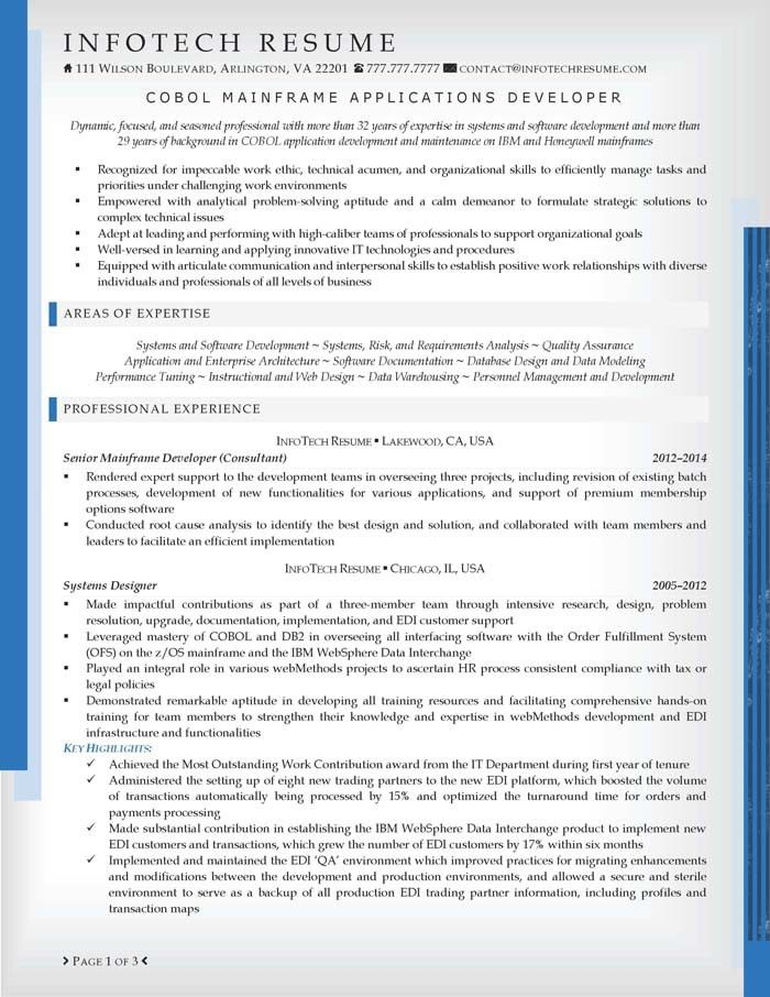 mainframe developer resume examples examples of resumes - Mainframe Resumes