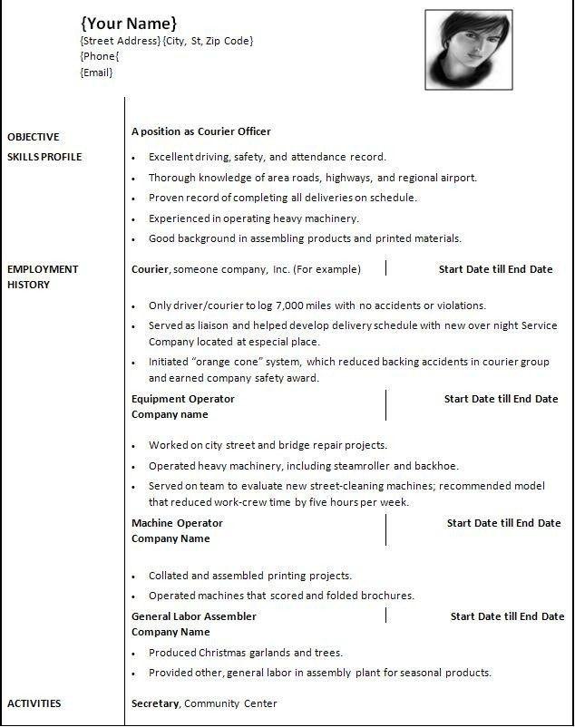 Resume Template Free For Mac Resume Templates Word Mac Creative - free professional resume template