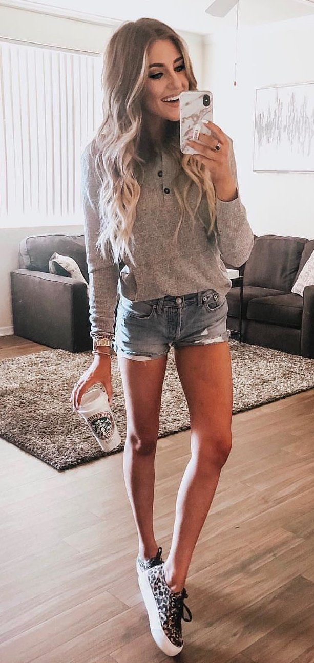 gray jacket #spring #outfits