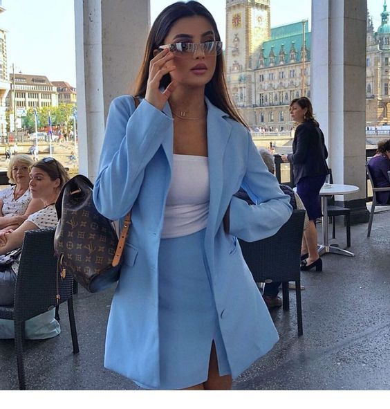 Nice blue suit for travel