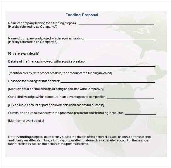 Executive Summary Proposal Template 20 Executive Summary - funding proposal template
