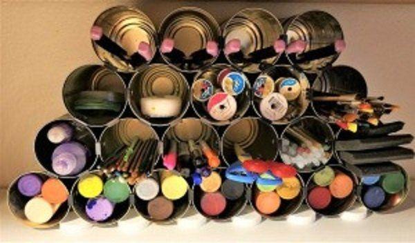 How to Make a Tin Can Craft Organizer DIY