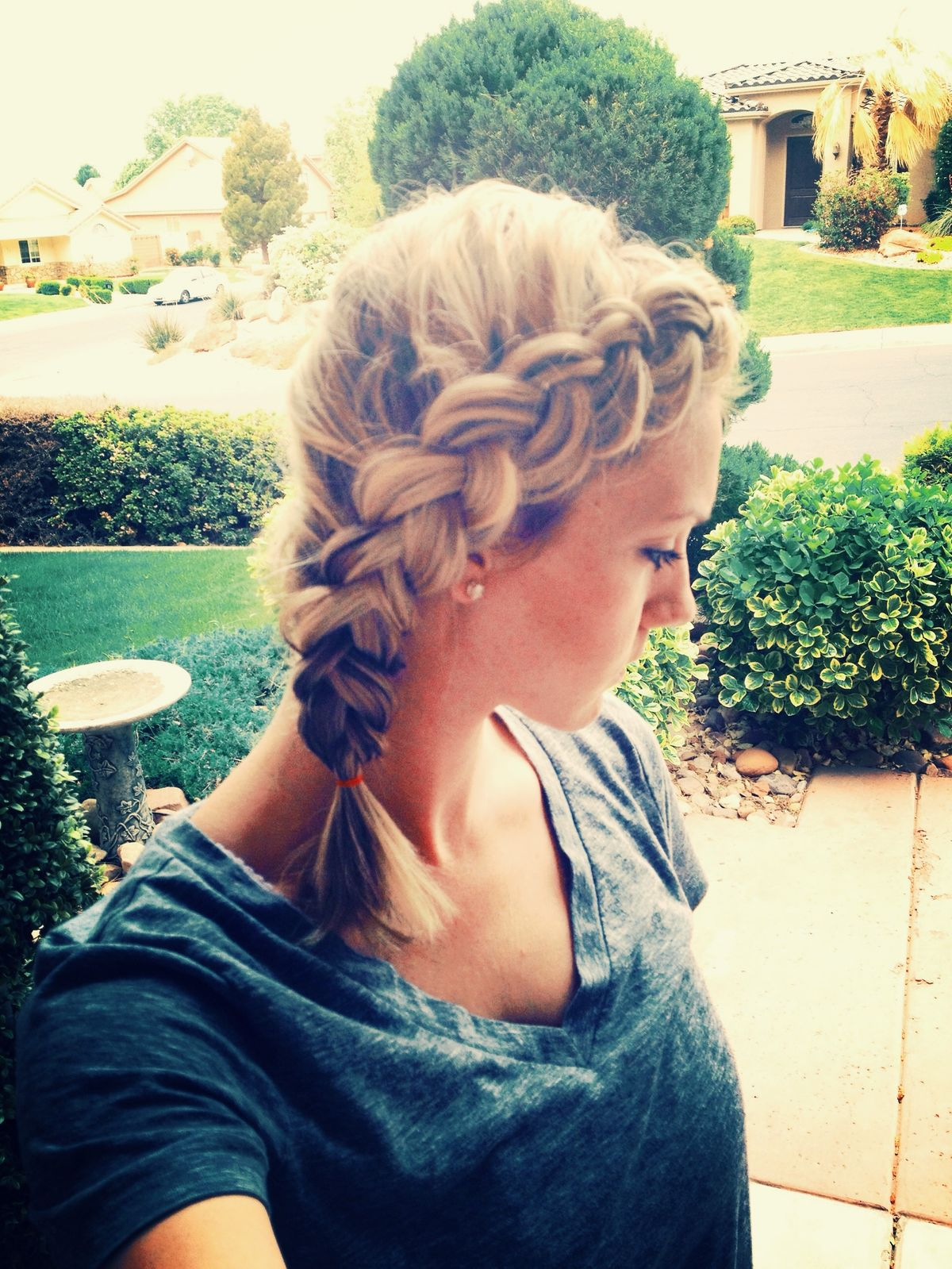 """How to: Pancaked Dutch Side Braid – Can be done on even short hair like mine.<p><a href=""""http://www.homeinteriordesign.org/2018/02/short-guide-to-interior-decoration.html"""">Short guide to interior decoration</a></p>"""