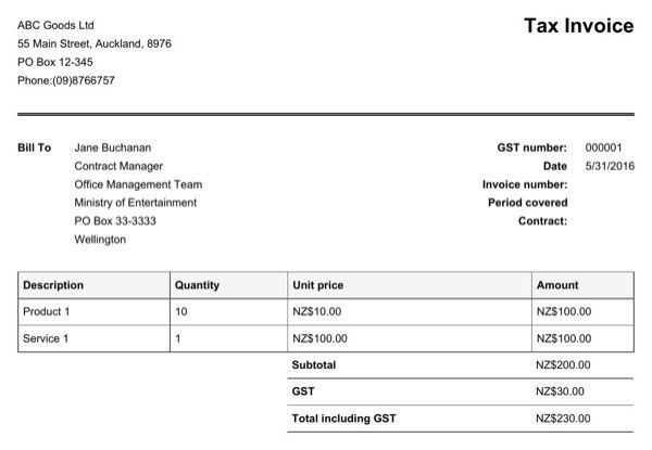 Sample Gst Invoice Gst Invoice Format And Rules Indiafilingscom - australian invoice template