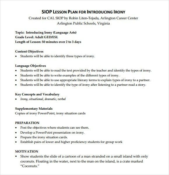 Lesson Plan Formats Best 10 Lesson Plan Templates Ideas On - siop lesson plan templat