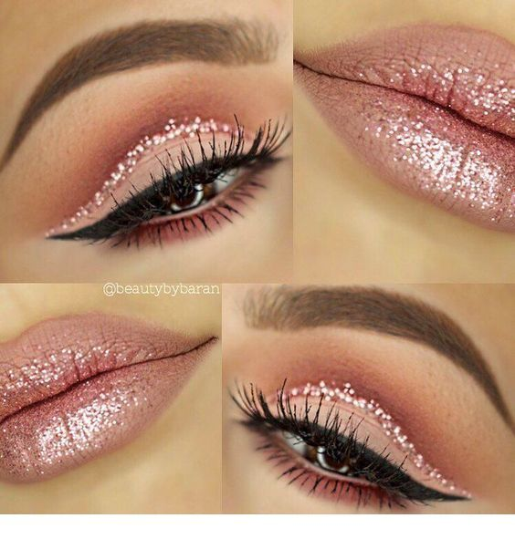 Glam with pink glitter