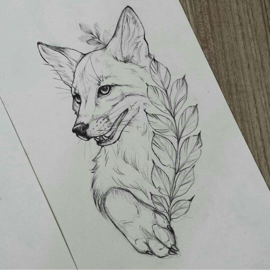 Fox Raposa Desenho Tattoo Desenho De Tatuagem De Raposa