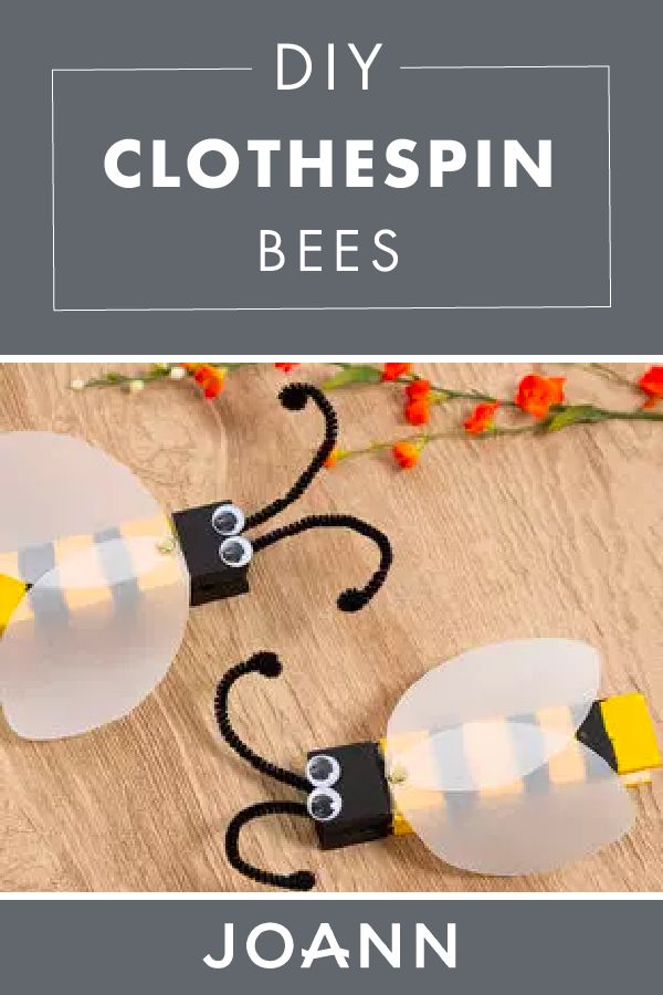 There's no cuter way to hang your favorite photos than with these adorable DIY Clothespin Bees! Click here to learn how to make this easy craft from JOANN that will have everyone buzzing.