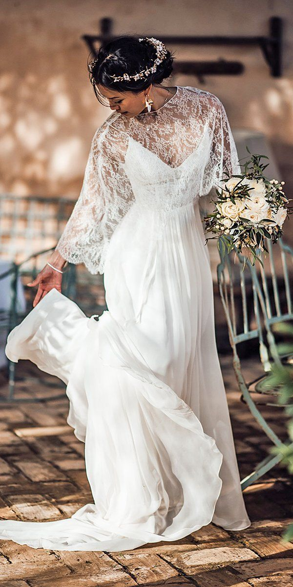 Wedding Dresses Fall 2019: See The New Trends ❤ wedding dresses fall 2019 a line with cape tali photography #weddingforward #wedding #bride