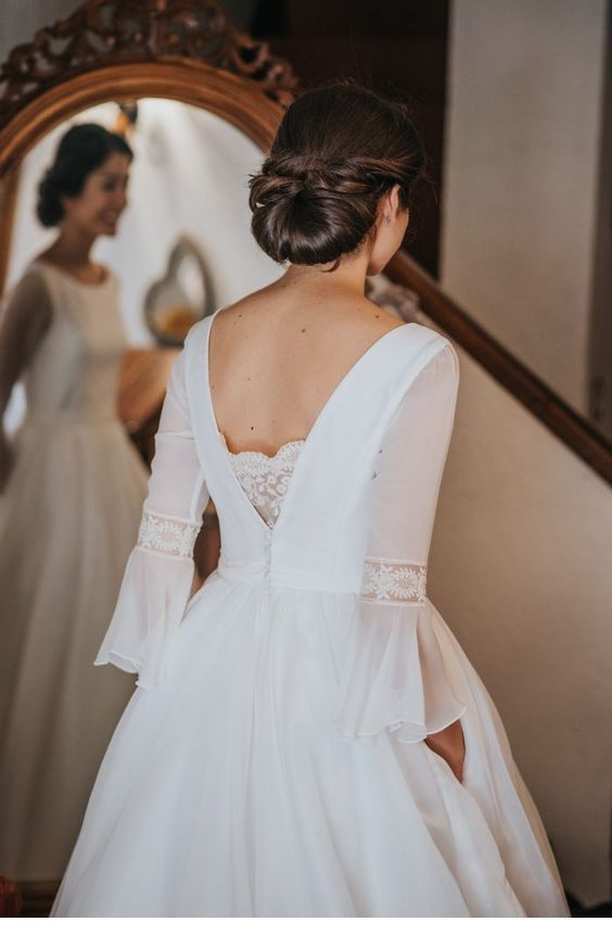 Glam white dress and updo