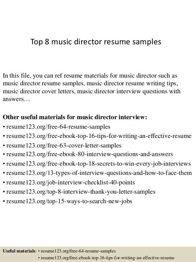 Sample Music Resume Music Resume Sample Resume Genius, Music - musician resume examples