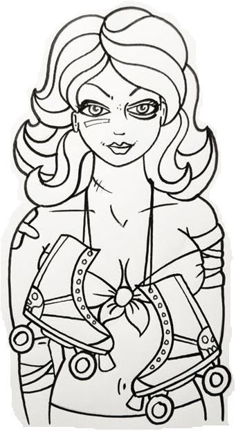 roller derby poster art by kaleigh barton printing this out as a coloring page talk derby to me pinterest roller derby derby y de transporte
