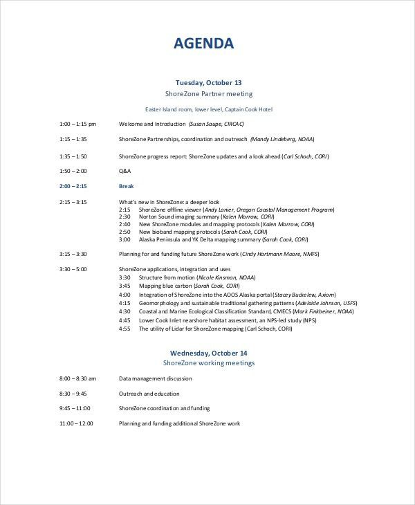 Business Meeting Agenda Format Free Meeting Agenda Template - sample meeting agenda 2