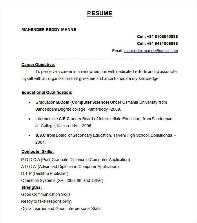 Resume Template Canada 81 Marvelous Work Resume Format Free - standard resume examples