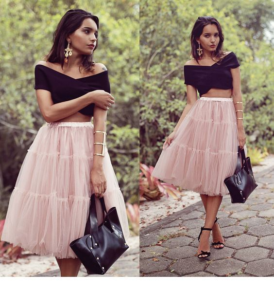 Lovely crop top and a tulle skirt