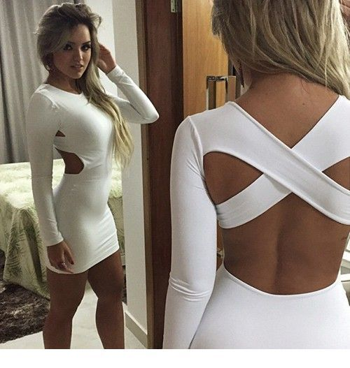 Cool crossover back dress