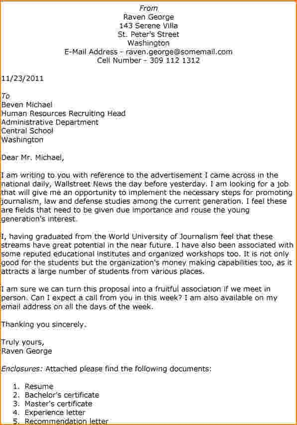 How To Head A Cover Letter | Cover Letter