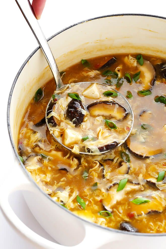 This Hot and Sour Soup recipe is quick and easy to make, SO tasty and flavorful, and tastes just like the Chinese restaurant version!   gimmesomeoven.com