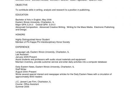 sample plain text resume - Plain Text Resume Template