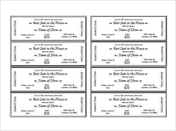 Free Printable Movie Ticket Template Best 25 Ticket Template - movie ticket template for word