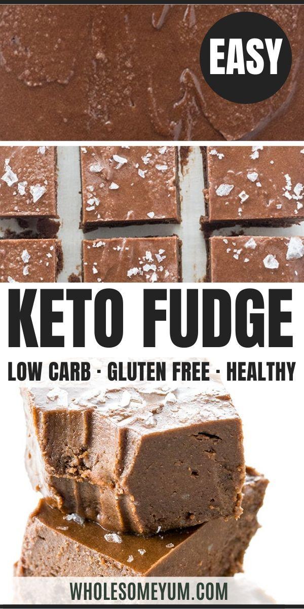 Easy Keto Fudge Recipe with Cocoa Powder - 4 Ingredients