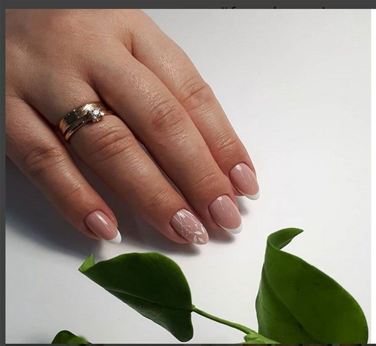 Top Trendy Classic French Manicure – nail art designs – Fashonails #nail_art_designs #trendy_nails #French_nails #French_manicure