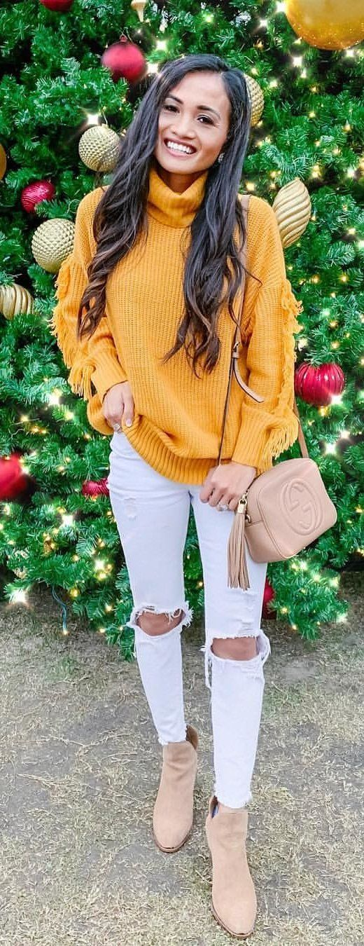 yellow sweater.