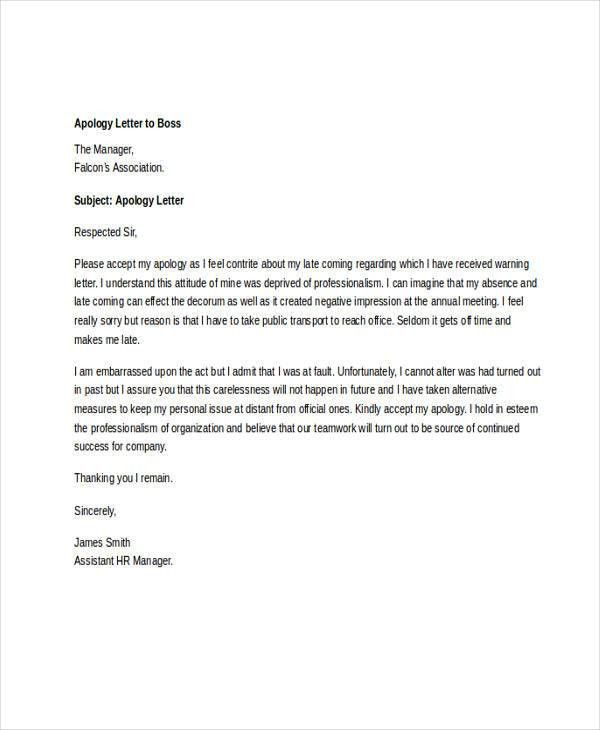6+ Letter Of Apology Templates   Free Sample, Example Format .  Business Apology Letter Sample